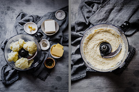 Low-Carb Cauliflower Mash with Roasted Garlic & Thyme