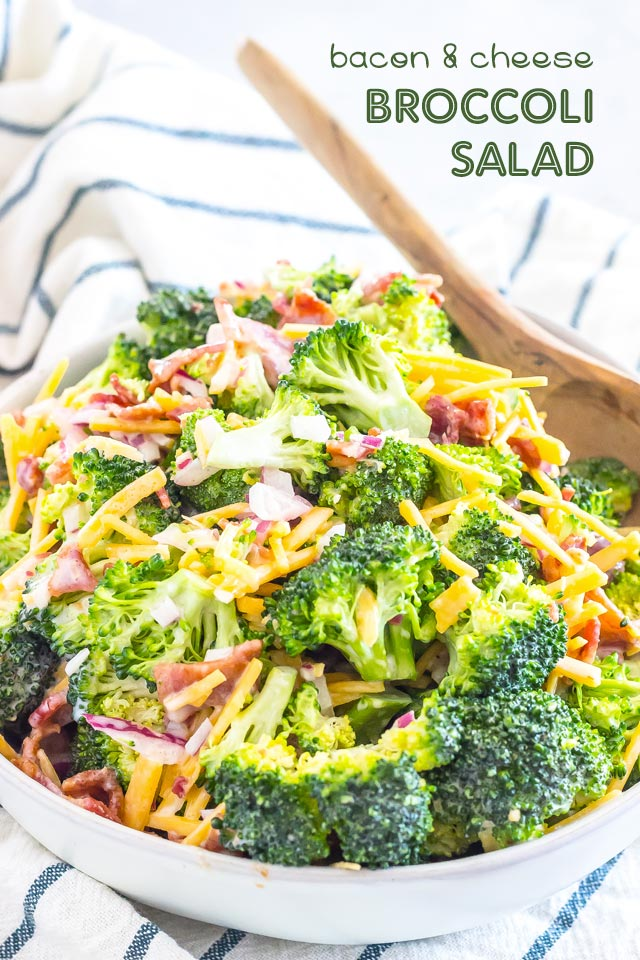 Low-Carb Bacon & Cheese Broccoli Salad