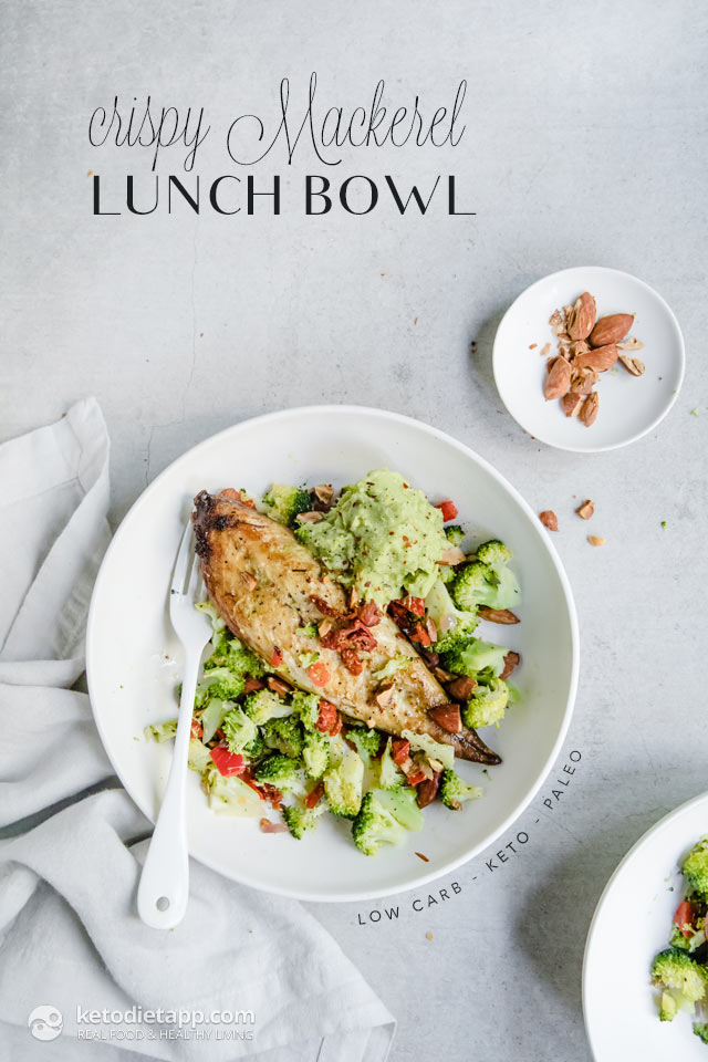 Crispy Ginger Mackerel Keto Lunch Bowl