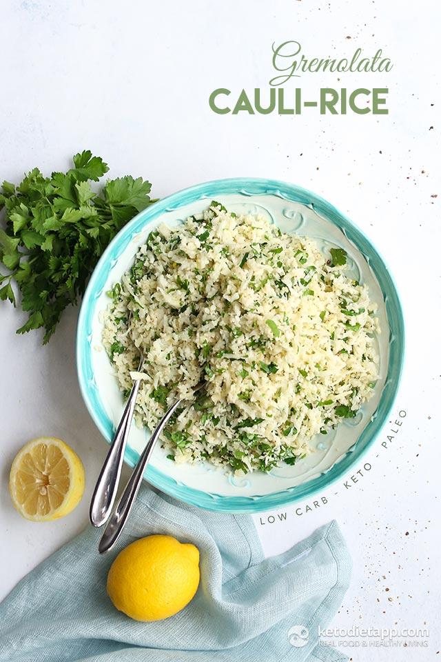 Quick and Easy Gremolata Cauli-Rice