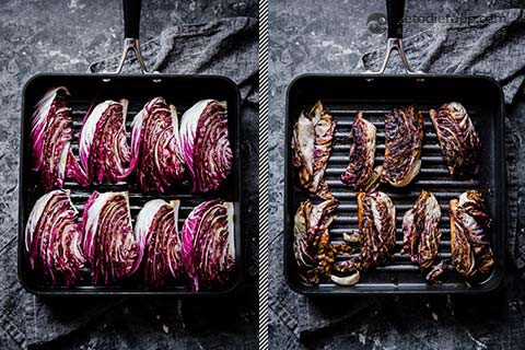 Grilled Radicchio with Parmesan Dressing