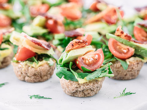 Keto Mini BLT Party Bagels