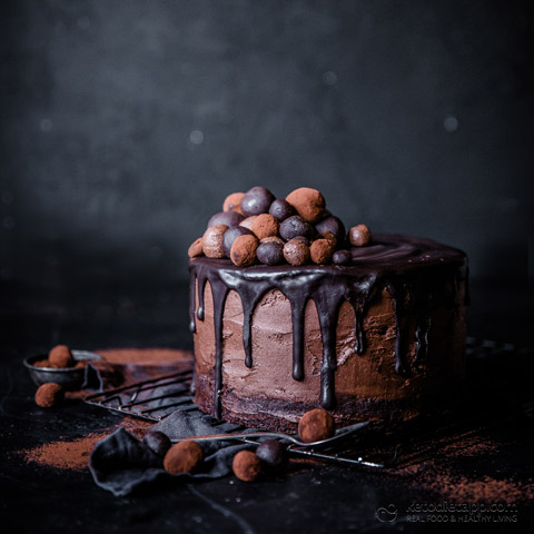 Low-Carb Chocolate Hazelnut Celebration Cake