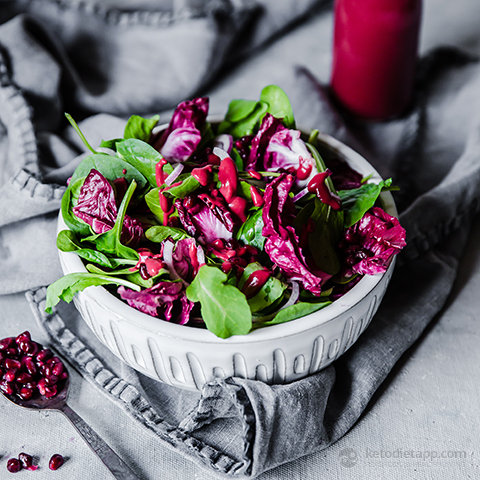 Mixed Leaf Salad with Sugar-Free Raspberry Vinaigrette