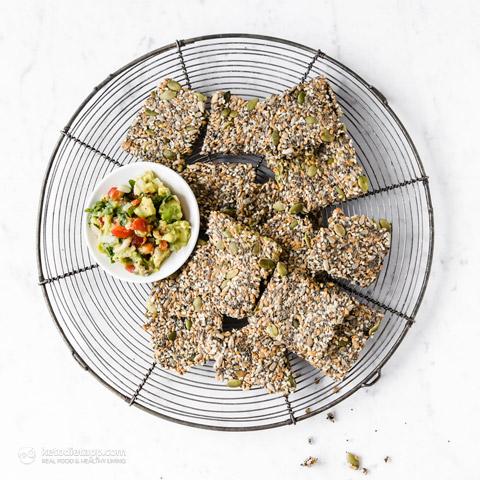 Crispy Multiseed Keto Crackers