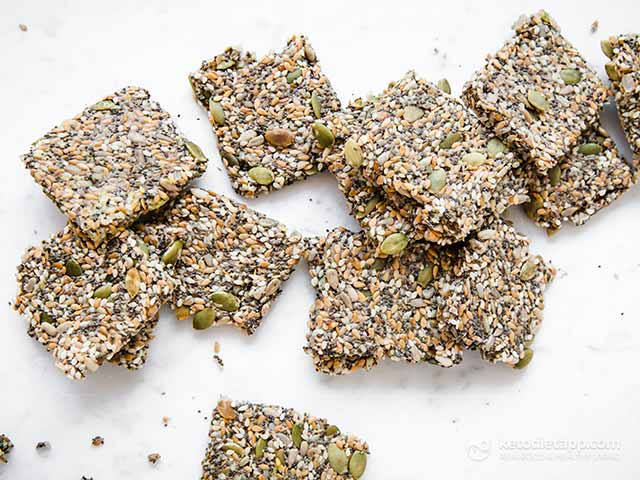 Crispy Multiseed Keto Crackers