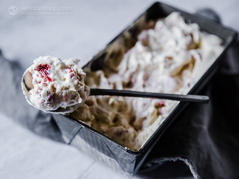 No-Churn Keto Vanilla & Strawberry Ice Cream