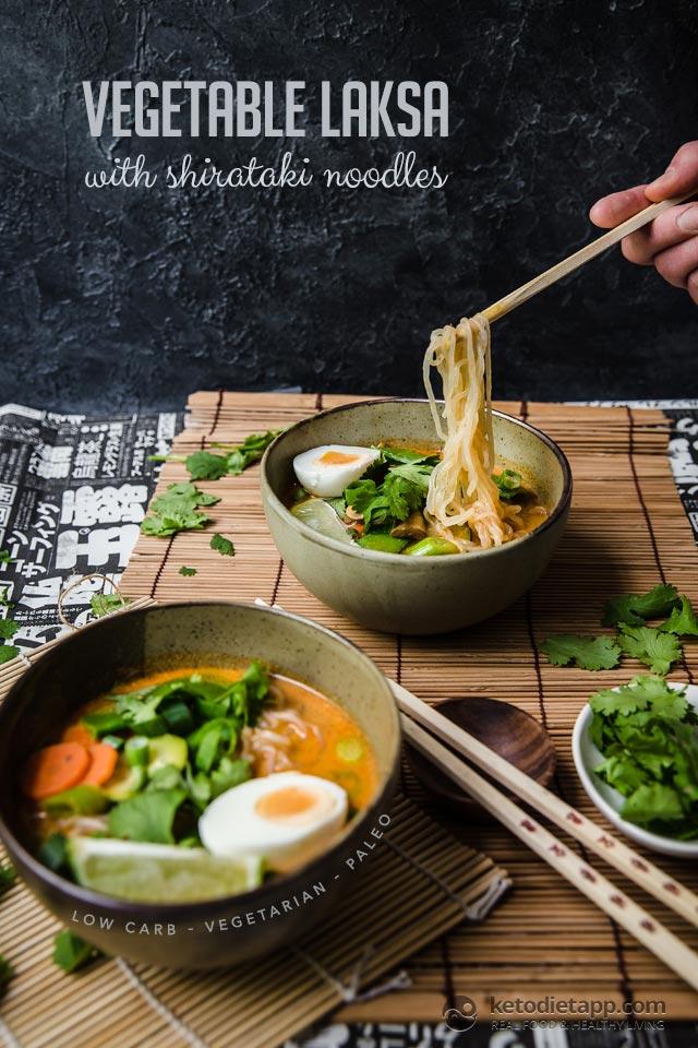 Low-Carb Vegetable Laksa with Shirataki Noodles