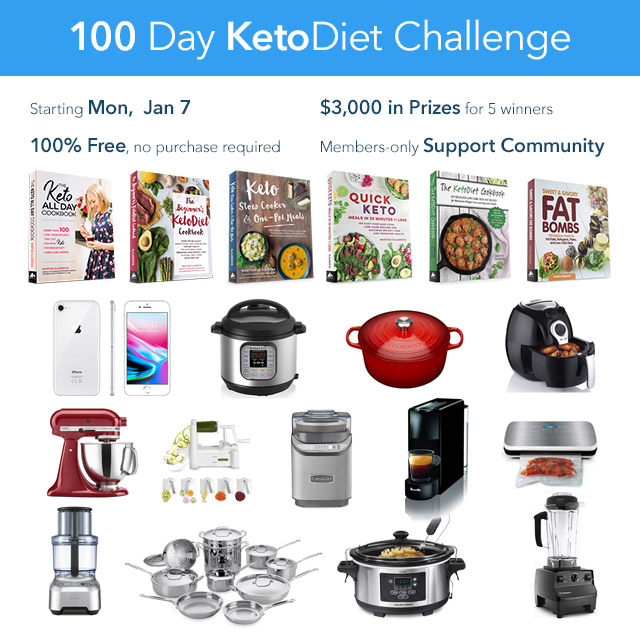 Join Our Free 100 Day KetoDiet Challenge!