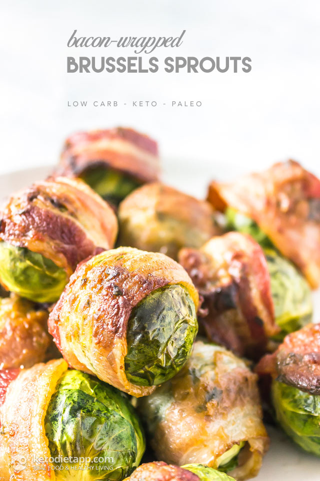 Bacon-Wrapped Brussels Sprouts with Dijon Glaze