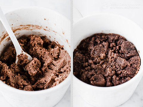 Keto Double Chocolate Chip Mug Cake