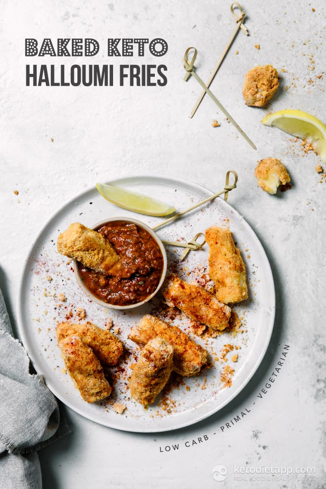 Low-Carb Baked Halloumi Fries