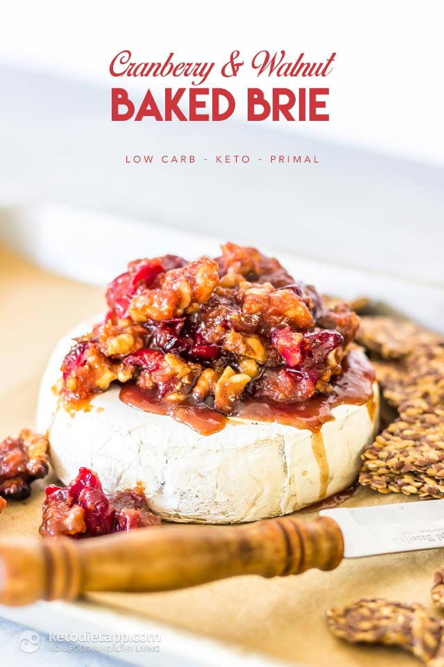 Low-Carb Cranberry & Walnut Baked Brie
