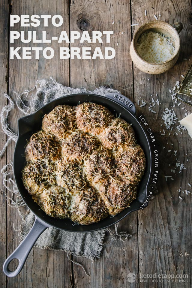 Pesto Pull-Apart Low Carb Bread