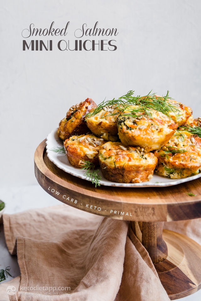Smoked Salmon Keto Mini Quiches