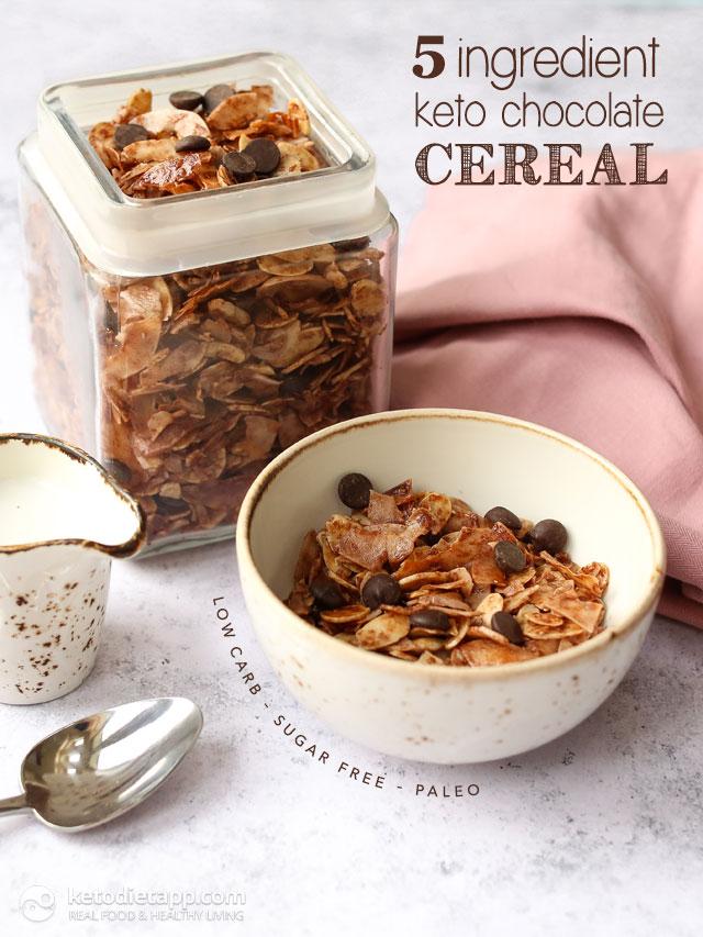 5 Ingredient Keto Chocolate Cereal | KetoDiet Blog