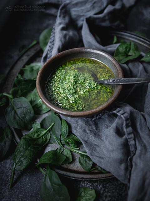 Cheesy Vegan Keto Pesto