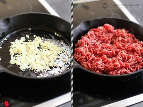 Keto Cheeseburger Stromboli