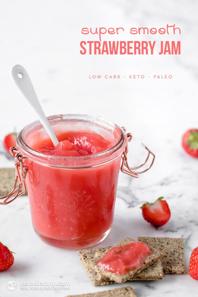 Super Smooth Low-Carb Strawberry Jam