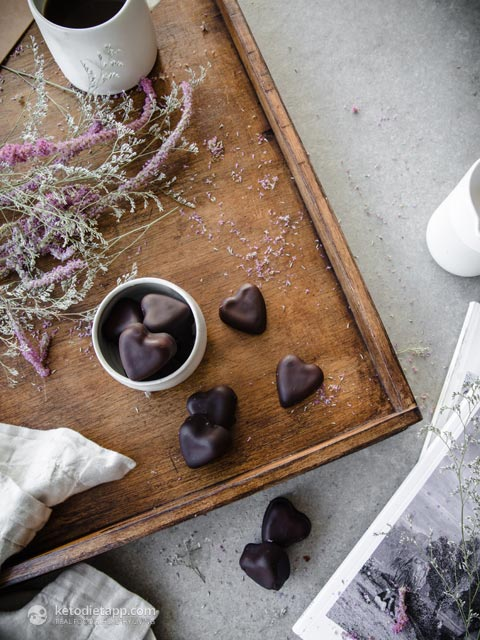 Sugar-Free Raspberry Chocolate Jellies