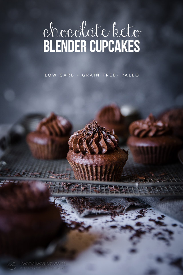 Chocolate Keto Blender Cupcakes