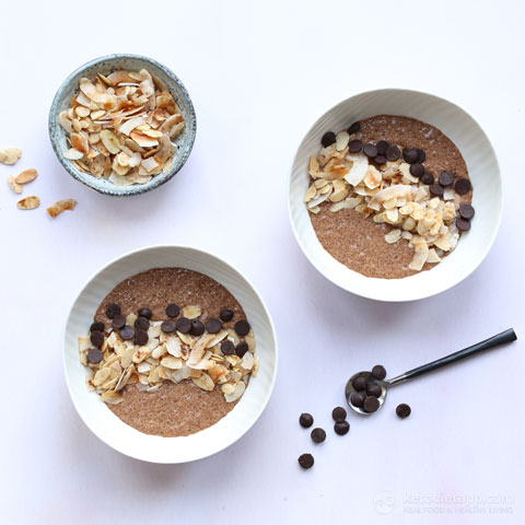 Keto Mocha Chia Breakfast Bowl
