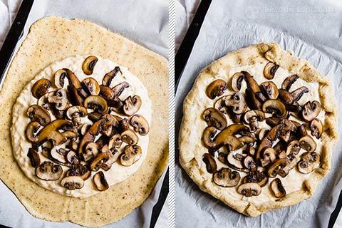 Mushroom & Ricotta Keto Galette