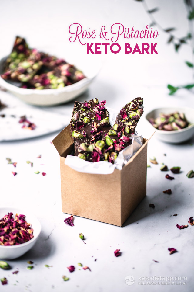 Keto Rose & Pistachio Chocolate Bark