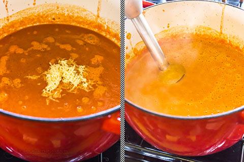 Cheesy Low-Carb Tomato Soup