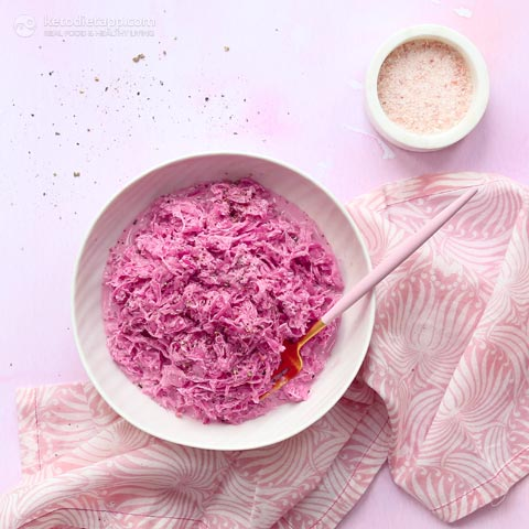 Low-Carb Pink Sauerkraut Side Salad