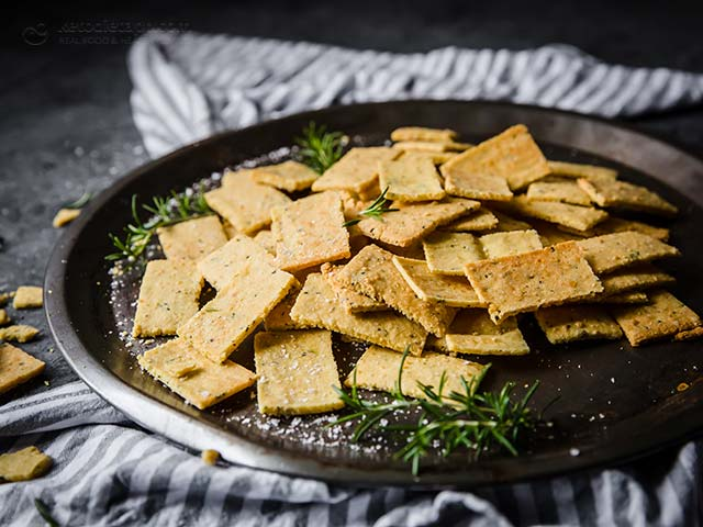 Rosemary & Parmesan Keto Crackers