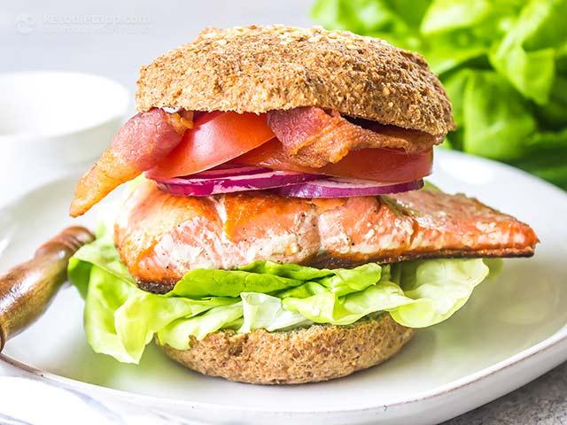 Salmon BLT Keto Sandwich