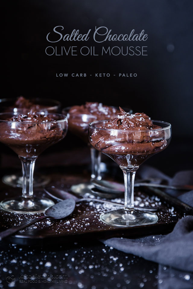 Keto Salted Chocolate Olive Oil Mousse