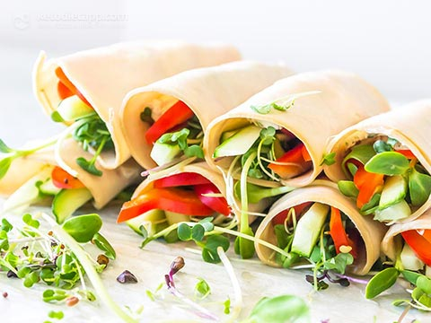 Low-Carb Turkey & Veg Roll-Ups