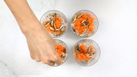 Low-Carb Carrot Cake Chia Jars
