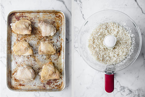 Low-Carb Chicken Rice Tray Bake