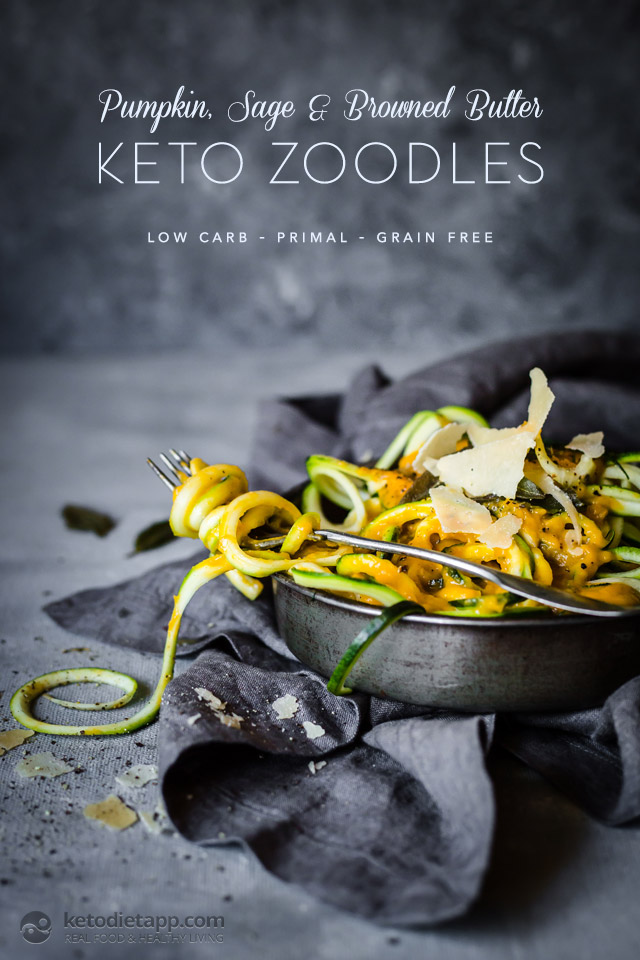 Low-Carb Pumpkin, Sage & Browned Butter Zoodles