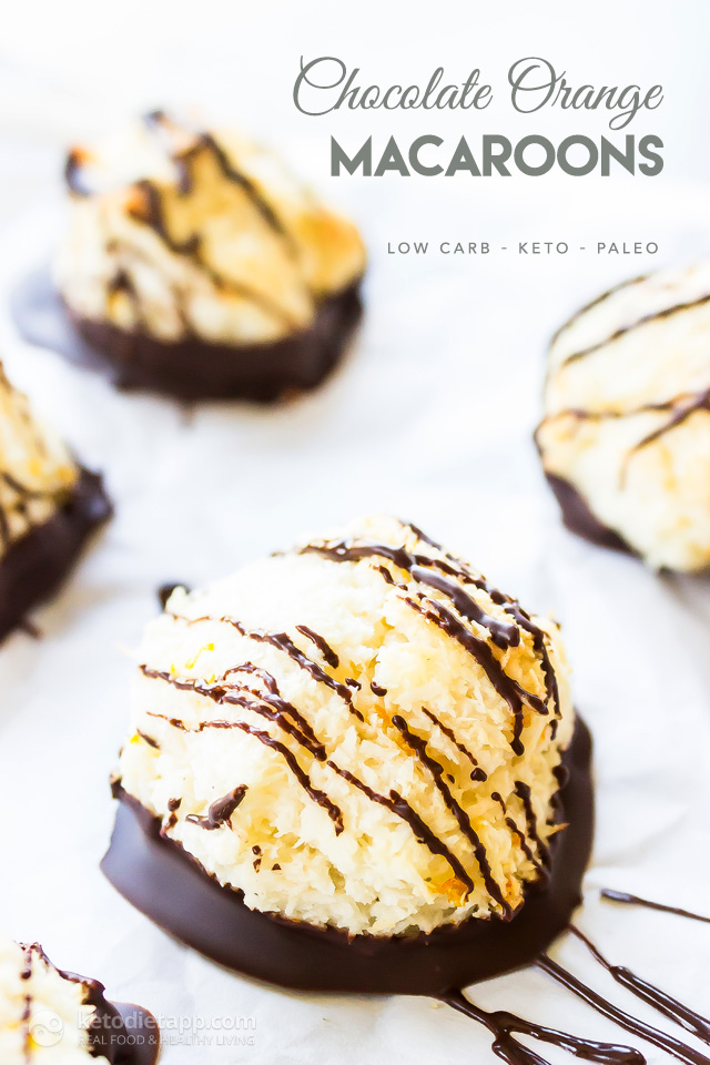 Keto Chocolate Orange Macaroons