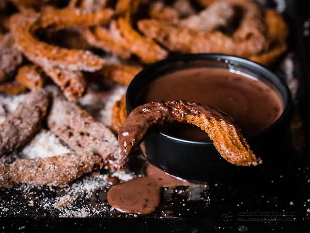 Keto Churros with Chocolate Dipping Sauce