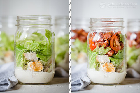 Low-Carb Cobb Salad in a Jar