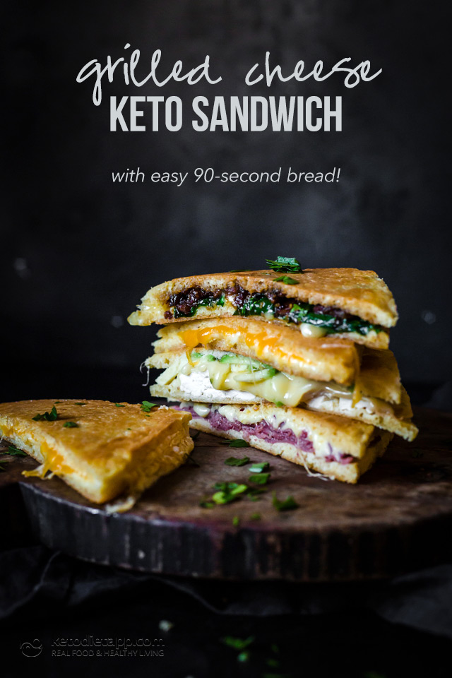 Low-Carb Quick Grilled Cheese Sandwich