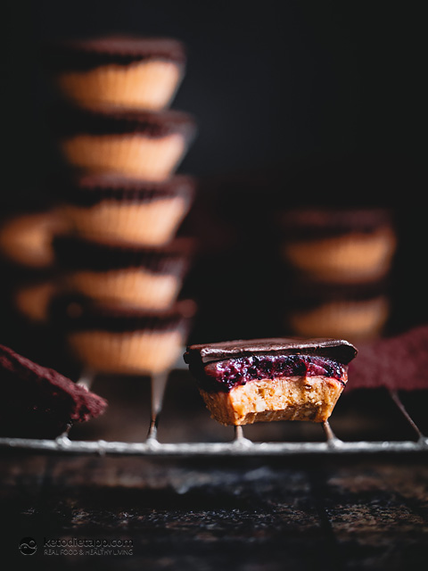 Keto Peanut Butter & Jelly Cups