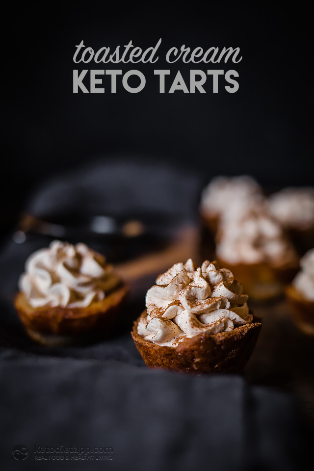 Toasted Cream Keto Tarts