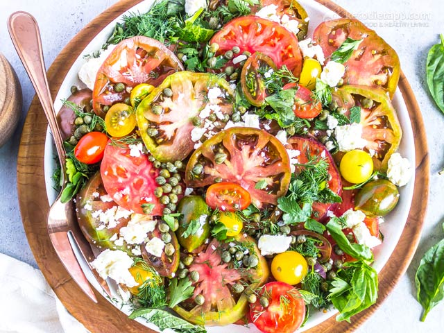 Low-Carb Heirloom Tomato Salad Bowl