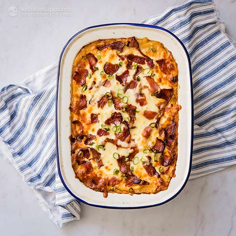 "Low-Carb Loaded ""Potato"" Casserole"