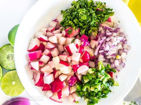 Simple Low-Carb Radish Salsa