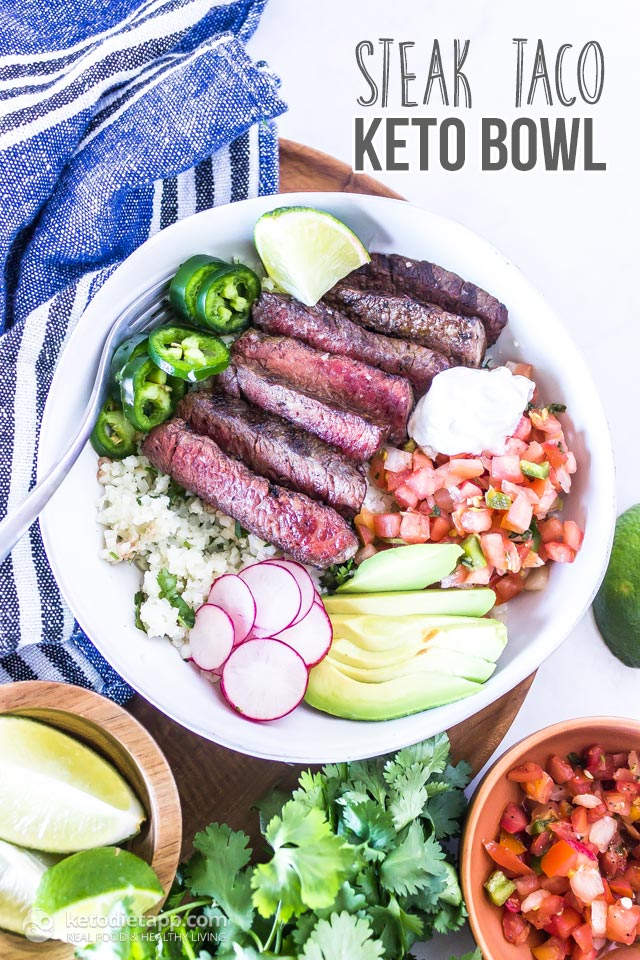 Low-Carb Steak Taco Bowl