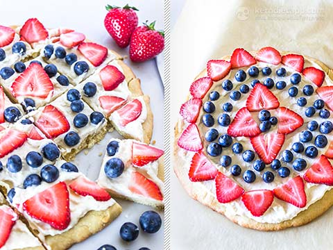 Low-Carb Fruit Pizza For the Fourth of July