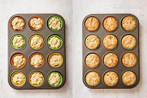 Keto Lemon Poppy Seed Cupcakes