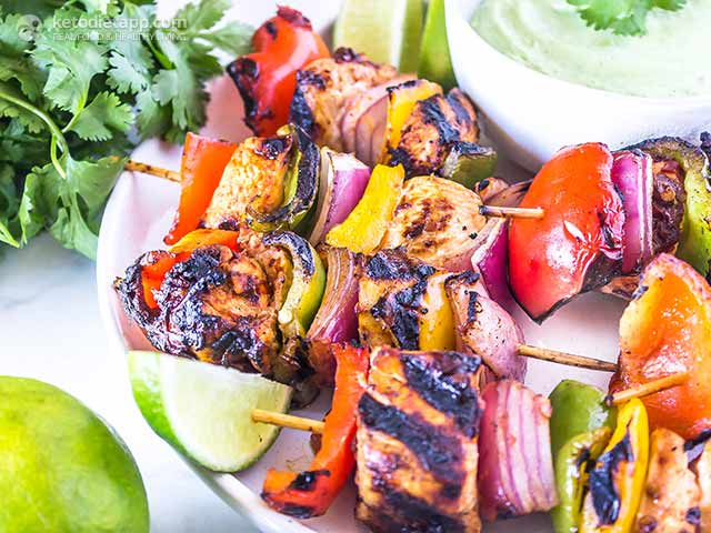 Low-Carb Chipotle Chicken Skewers